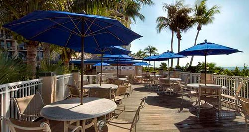 Dining at Beach Club Bar and Grille