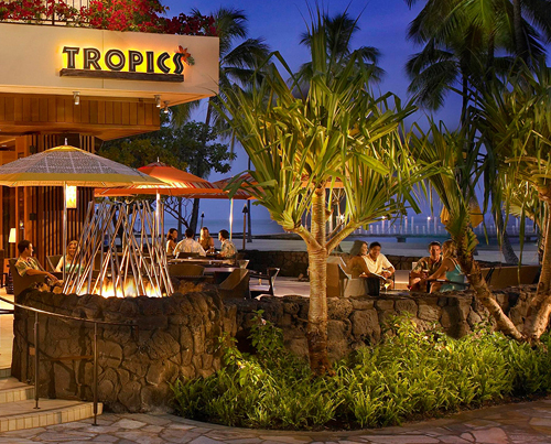 Oceanfront Dining at Tropics Bar & Grill