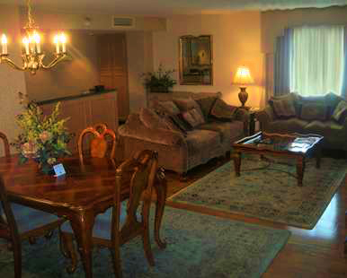 Our Two Room Presidential Suite