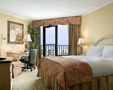 Our One King Bed with Balcony Gulf View