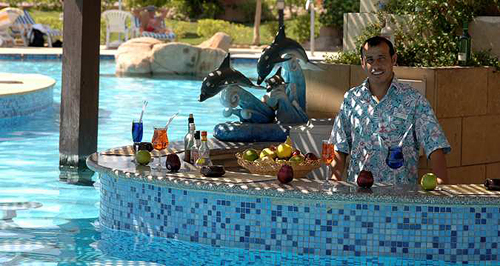 Drinks and Delights at Pool Bar and Food Corner