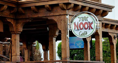 Dining at The Nook Café