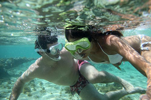 Snorkeling on Our Honeymoon